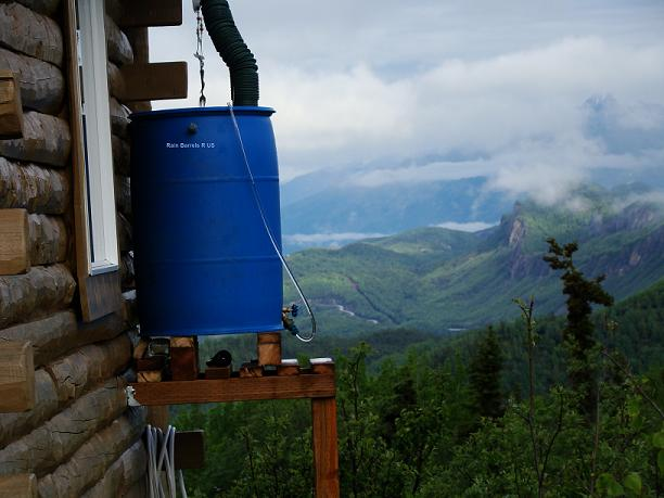 Rain barrel in Alaska